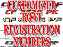 Free 2x Boat Registration Number Decals Vinyl PWC Lettering 1pair/lot