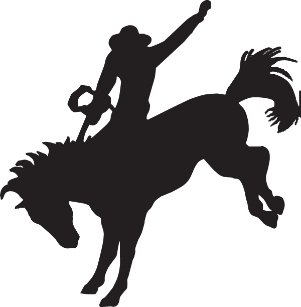 Cowboy Silhouette Decal City The Ultimate Decal Maker Shop