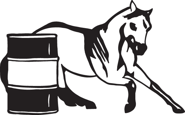 Barrel Horse Racing Decal