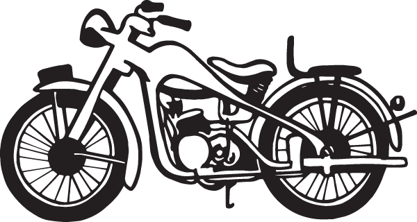 Nice Motorcycle Chopper Decal
