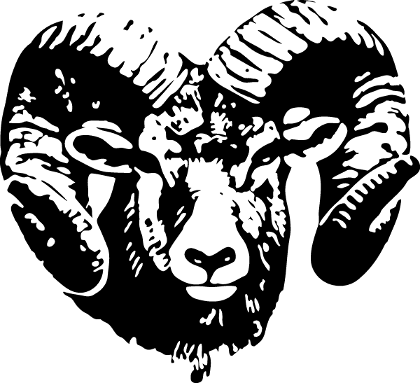 Custom sized: Ram Head Decal