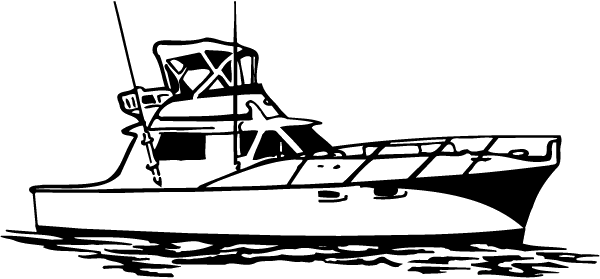 Aft Cabin Yacht Decal