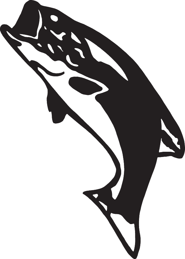 Largemouth Bass Silhouette Decal