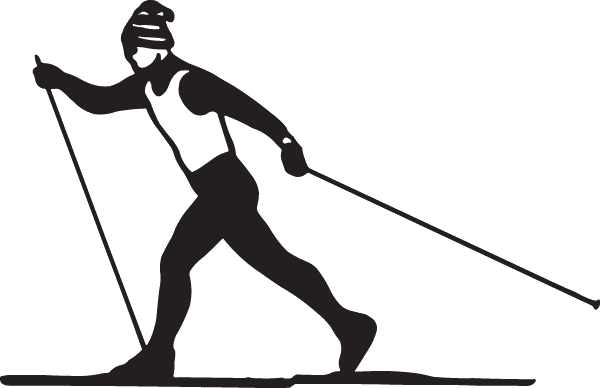 Custom sized: Cross Country Skiing Decal