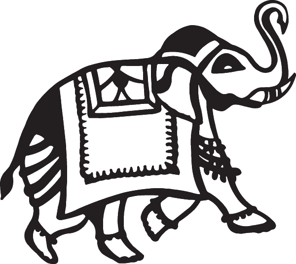 African Elephant Tribal Decal