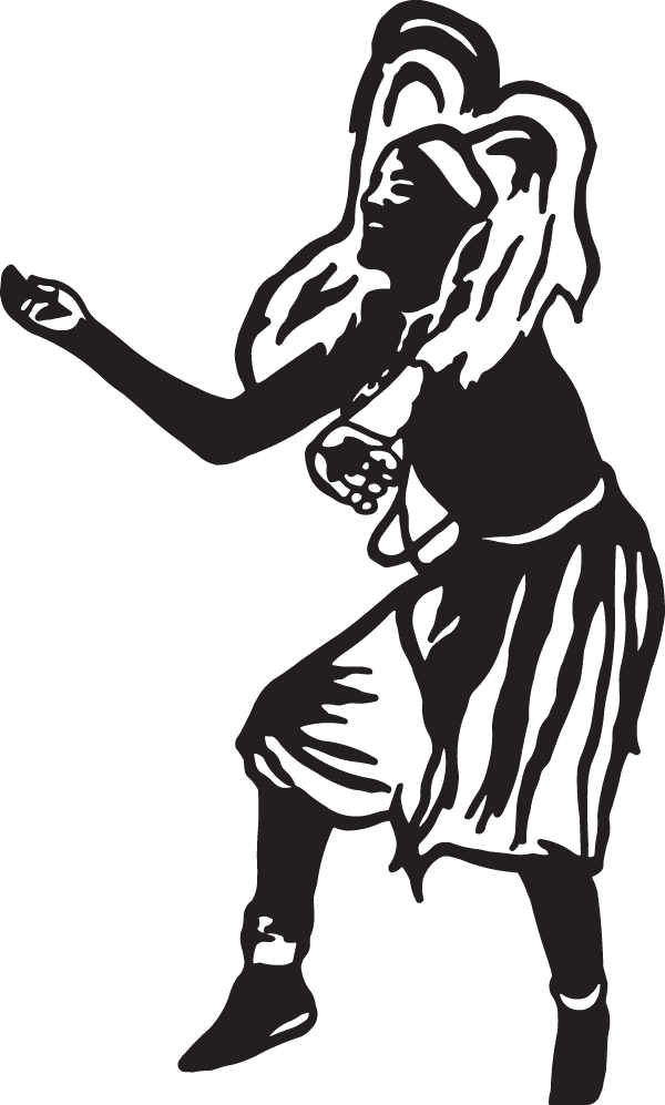 African Dancer Decal