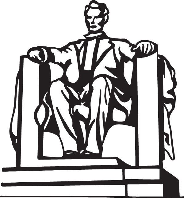 Abe Lincoln Monument Decal