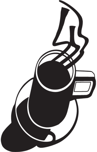 Steaming Cup of Coffee Decal