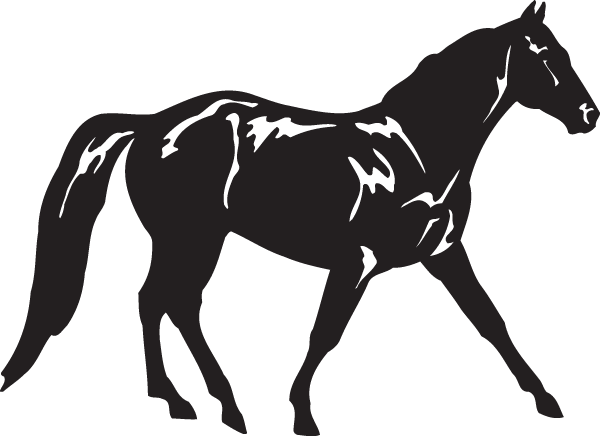 A Horse Walking Decal