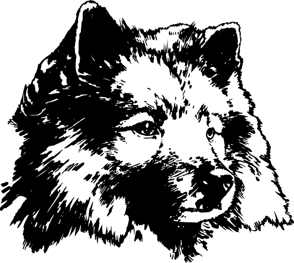 Furry Dog Head Decal
