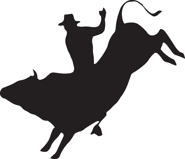 bull rider silhouette black and white race car clipart black and white police car clipart