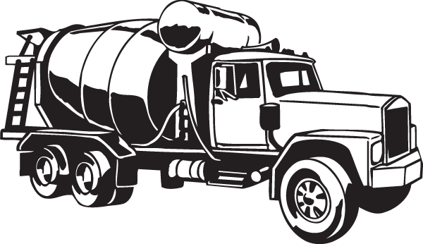 cement truck decal