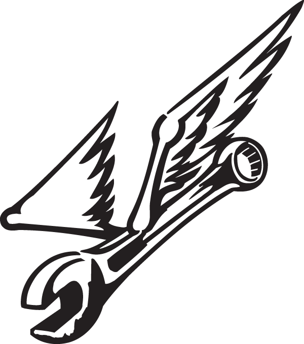 Flying Wrench decal