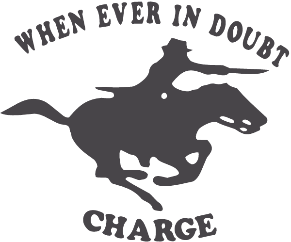 Charging Horse and Rider Decal