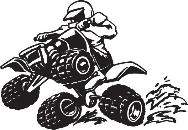 Four Wheeling Decal Sticker
