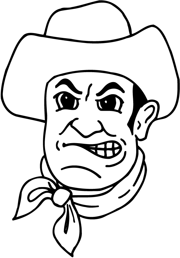 Angry Cowboy Decal