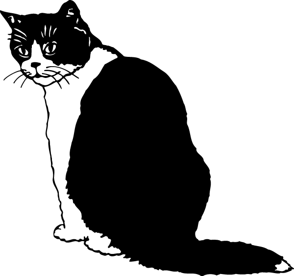 Black and White Cat Decal