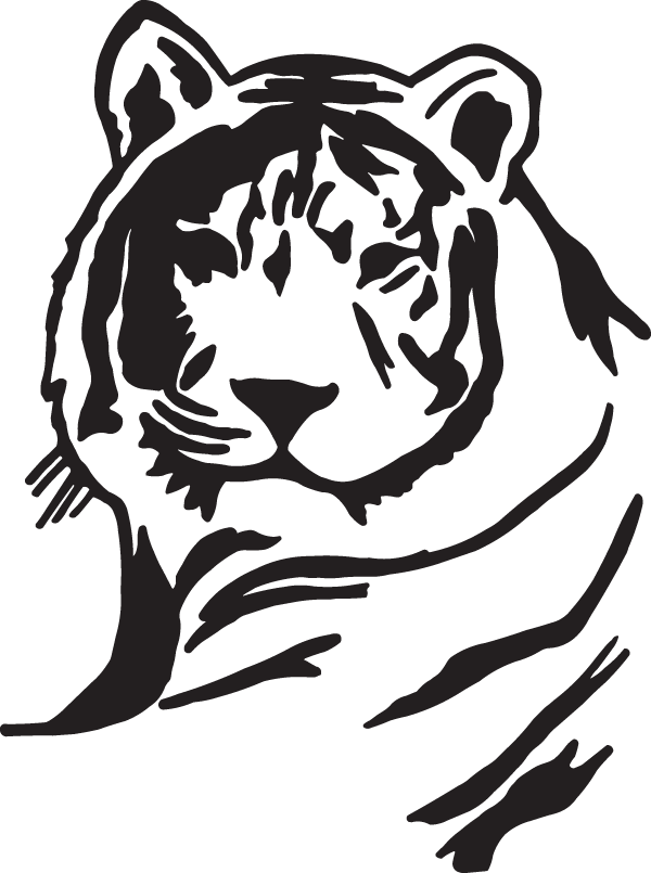 Albino Tiger Decal