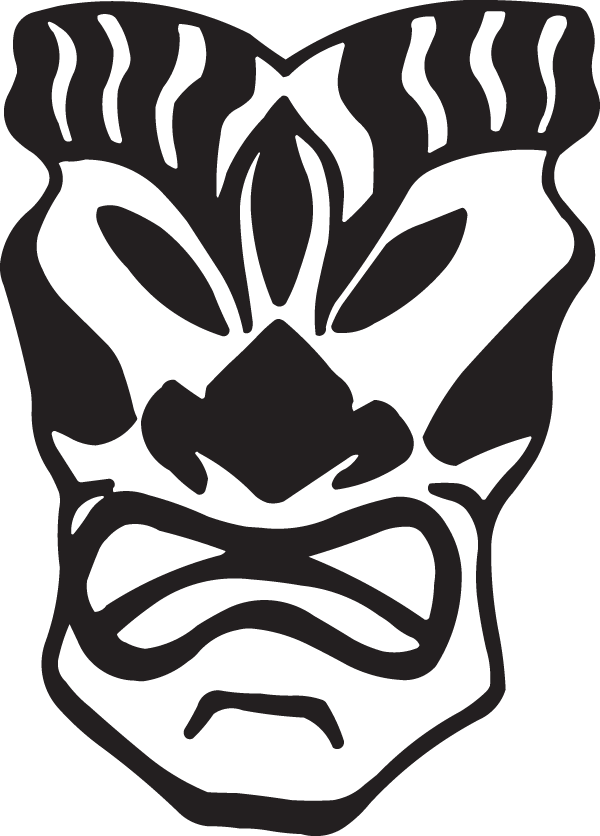 Angry Mask Decal