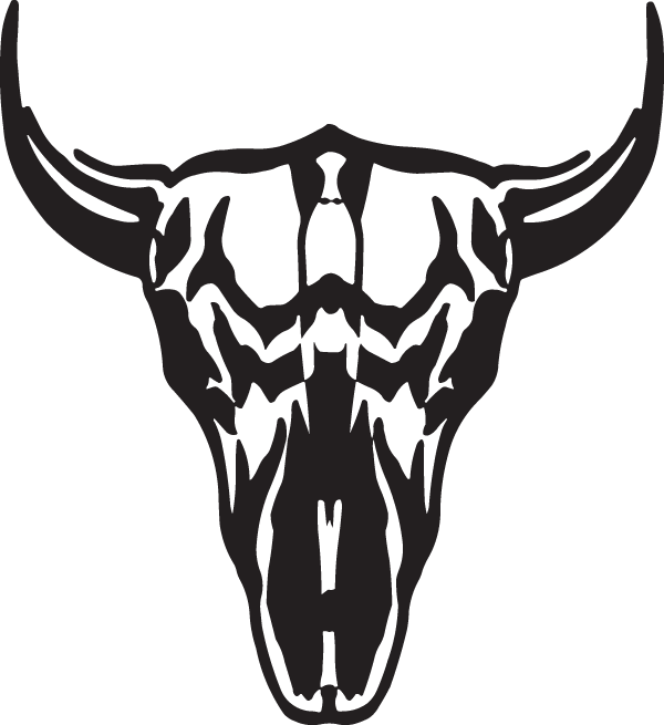 Buffalo Skull Decal