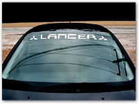 Windshield Lettering