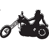 Chopper Motorcycle Woman Silhouette Decal
