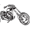 Classic Chopper Motorcycle Decal