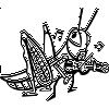 Grasshopper Playing Violin Decal