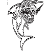 Cartoon Shark Decal