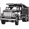 Custom sized: Dump Truck Decal