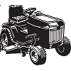 Riding Lawn Mower sticker