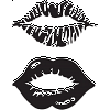 Big Lips Decal