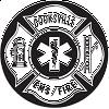 EMS Cross Fire & Rescue Decal