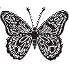 Butterfly Top View Decal