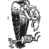 Cartoon Turkey Vulture Decal