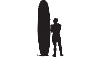 Surfer Silhouette Decal